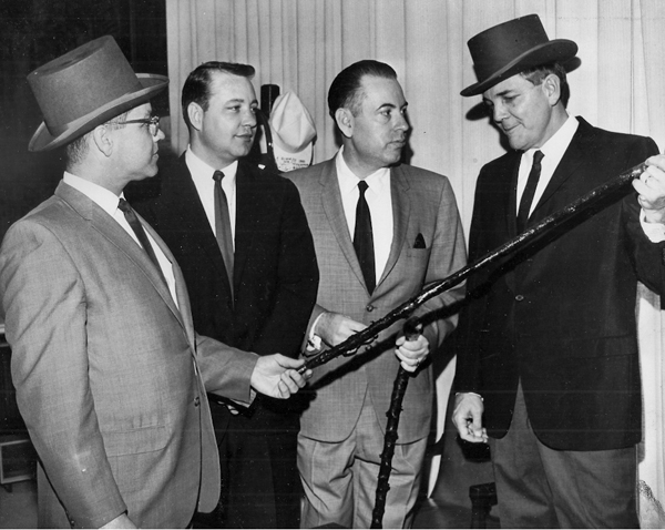 Parade History: Governor John McKeithen holds shillelagh