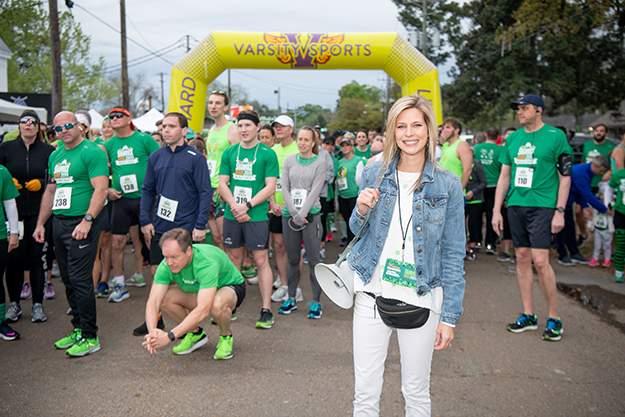 Brittany Shingleton before 2019 shamrock run in Baton rouge, LA